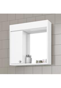 Armário Com Espelho Movelbento Para Banheiro 60X60Cm Branco