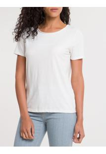 Blusa Ckj Fem M/C Sustainable Logo Peito - Off White - Pp