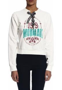 Blusão Mormaii Moletinho Estampado - Feminino-Branco