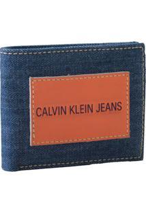 Carteira Gd Ckj Masc Jeans - Azul Médio - U