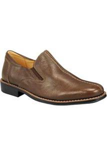 Sapato Social Sandro Moscoloni Side Gore Teddy Masculino - Masculino-Marrom Escuro
