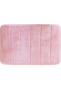 Tapete De Banheiro Super Soft- Rosa- 60X40Cm- Cacamesa