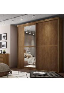 Guarda Roupa Casal Com Espelho 2 Portas 6 Gavetas 207Cm Sofisticato Belmax Álamo