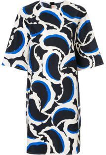 Marni Vestido Com Estampa - Azul