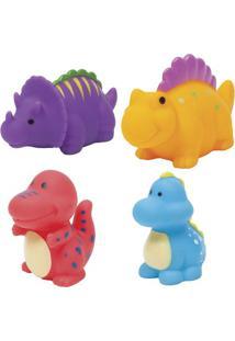 Jogo De Brinquedos De Banho Dinossauros - Azul & Roxo