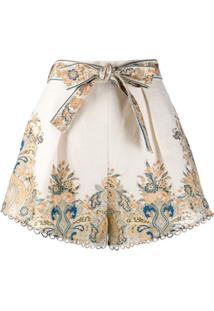 Zimmermann Short Freja Com Estampa Paisley - Neutro