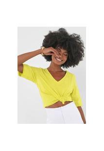 Camiseta Open Style Lisa Verde