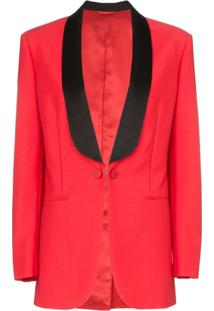 Calvin Klein 205W39Nyc Blazer Decote V - Vermelho