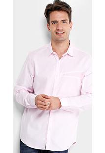 Camisa Opera Rock Recorte Monograma Masculina - Masculino-Rosa