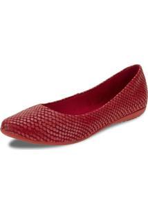 Sapatilha Feminina Vermelha Bottero - 261001