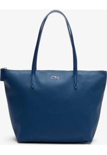 Bolsa Lacoste Em Couro Azul