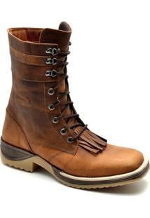 Bota Top Franca Shoes Texana - Masculino-Caramelo
