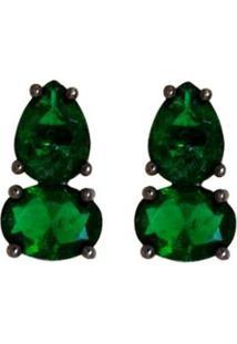 Brinco Negro Ania Store Bodiam - Feminino-Verde