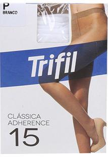 Meia Calça Trifil Adherence Fio 15 Feminina - Feminino-Branco