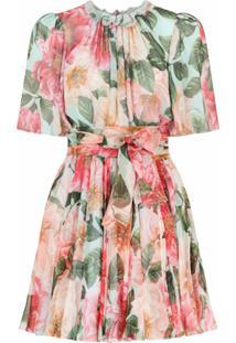 Dolce & Gabbana Vestido Com Estampa Floral - Rosa