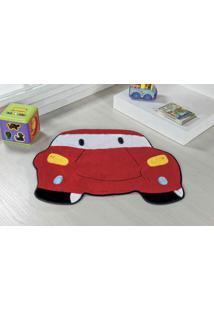 Tapete Formato Premium 78Cmx60Cm Carro Vermelho Guga Tapetes