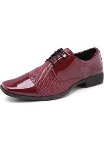 Sapato Social Schiareli 701 Verniz Vermelho