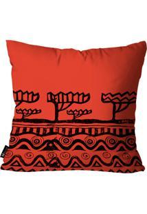 Capa Para Almofada Mdecore Africana Vermelho 35X35