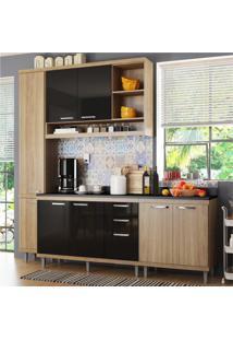Cozinha Completa Multimóveis Com 5 Peças Sicília 5813 Argila/Preto