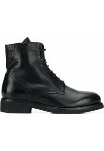 Buttero Ankle Boot Com Cadarço - Preto