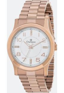 Kit Relógio Feminino Champion Cn29221B Analógico + Conjunto Semijóia