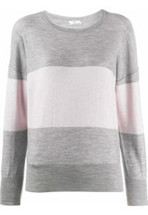 Peserico Suéter Listrado - Cinza
