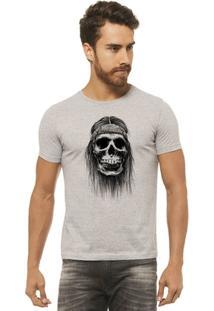 Camiseta Joss Estampada - Caveira Bandana - Masculina - Masculino