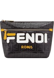 Fendi Fendimania Logo Pouch - Preto