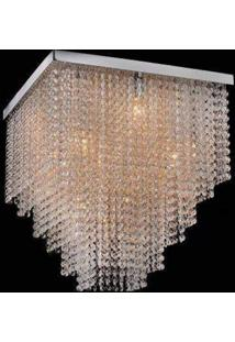 Plafon Sobrepor De Cristal Niagara 46,5Cmx45Cmx45Cm Bella Iluminação Transparente