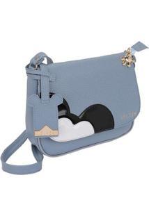 Bolsa Pequena Transversal Selten Feminina - Feminino-Azul Claro