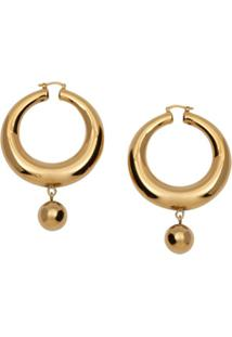 Jw Anderson Hoop And Ball Earrings - Dourado