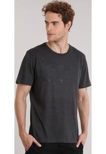 Camiseta Batman Cinza Mescla Escuro