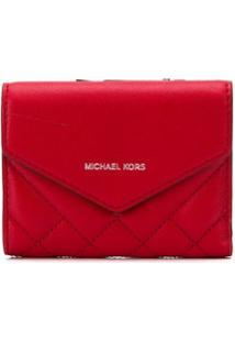 Michael Michael Kors Carteira Com Logo - Vermelho