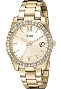 806e0f89420 Relógio Dobrável Analógico Feminino Aço Technos Fossil Clock Es4374 1dn