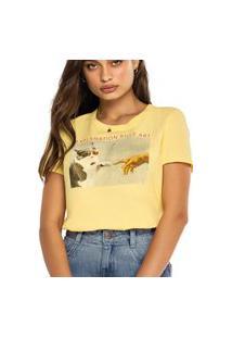 Camiseta Feminina Enfim 1000083905 Amarelo