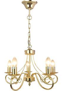 Lustre Paris, 100X45 Metal Dourado Dourado