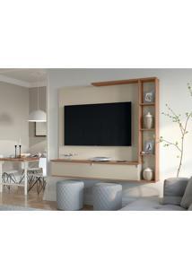 Painel Para Tv Até 52 Polegadas Sublime Off White E Canelato