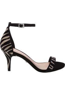 Sandália Gisele Kitten Heel Zebra Print | Schutz