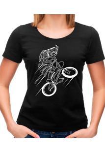 Camiseta Feminina Samurai Rider Geek10 - Preto