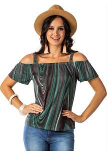 Blusa Ombro A Ombro Verde Habana