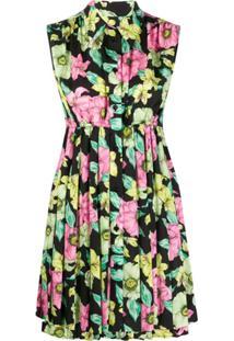 Balenciaga Camisola Com Estampa Floral - Preto
