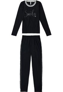 Pijama Feminino Estampa Metalizada Malwee Liberta