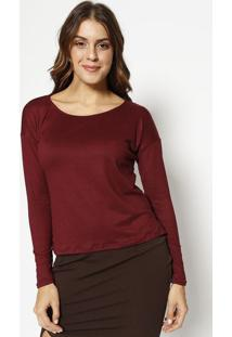 Blusa Lisa Em Suede- Bordã´Physical Fitness