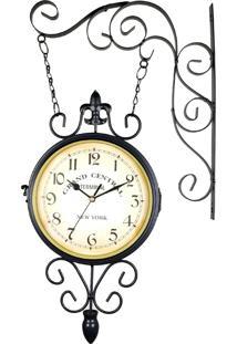 ... Relógio Para Pendurar Estilo Estação Ferroviária Antiga - Relógio Retrô  Grand Central New York R3P Import f9bff71353