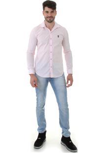 Camisa Opera Rock Gola Estruturada Rosa