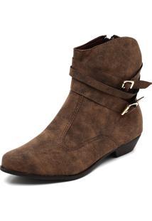 Bota Country Dafiti Shoes Fivelas Marrom