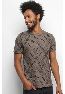 Camiseta All Free New York Masculina - Masculino-Café