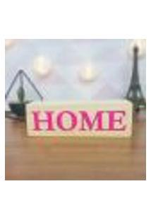 Cubo Decorativo Com Letras Em Acrílico Home Único