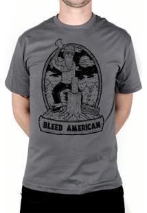 Camiseta Bleed American Fontana Chumbo