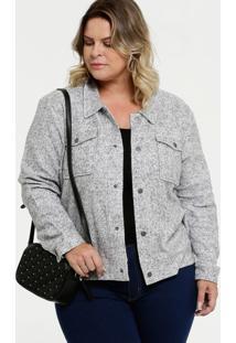 Jaqueta Feminina Textura Plus Size Marisa